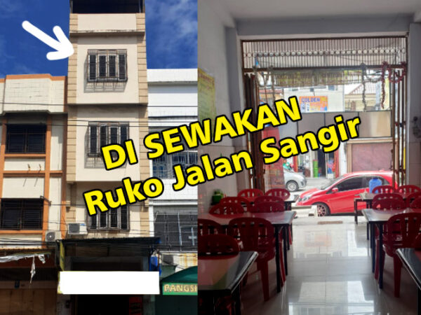 Di sewakan Ruko 4 Lantai Harga Miring di Jantung Kawasan Pecinan Makassar